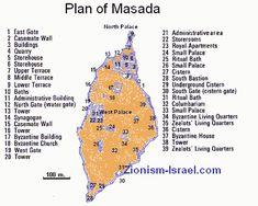 map of Masada site