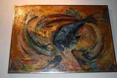 Germaine Brus - Stervende vis -  te koop aangeboden bij Kunst Extra. Fauvism, Antwerp, Impressionism, Still Life, Van, Portrait, Canvas, Painting, Fauvism Art