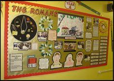 The Romans Display. Teaching Displays, Class Displays, School Displays, Classroom Displays, Classroom Decor, Ancient Rome, Ancient History, Romans Ks2, Rome Activities