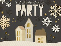 Good news for hosts and hostesses! We designed a collection of festive Christmas invites.