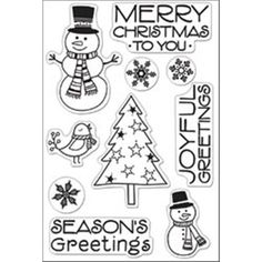 "Scrapbooks by Design - Hero Arts Clear Stamps 4""x6"" Sheet - Snowman Christmas, $14.99 (http://www.scrapbooksbydesign.ca/stamps/hero-arts-clear-stamps-4x6-sheet-snowman-christmas/)"