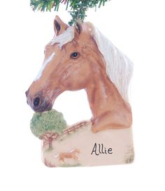 Horse Christmas ornament  Bay Paint Horse  personalized ornament