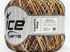 Shine Superfine Yellow White Camel Brown  Fiber Content 75% Acrylic, 25% Polyamide, Yellow, White, Brand Ice Yarns, Camel, Brown, Yarn Thickness 1 SuperFine  Sock, Fingering, Baby, fnt2-48804 Camel, Fiber, White Brand, Yellow, Yarns, Brown, Sock, Content, Baby