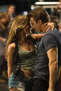 Footloose (2011) - Love the layered lace, tank, and vest with the boho necklace