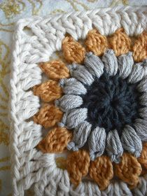 Purple Chair Crochet: Sunburst Granny Square (Free!)afghan