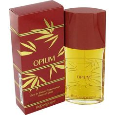 Opium Perfume by Yves Saint Laurent, Created by the design house of yves saint laurent in 1977, opium is classified as a refined, oriental, soft fragrance . This feminine scent begins with notes of mandarin and bergamot, then myrrh, jasmine and carnation. It is completed with a final note of amber.