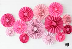 Phew, these pretty pink paper fans are done! I'm using these fans as our backdrop at Young Womens in Excellence. Valentine Backdrop, Valentine Decorations, Birthday Party Decorations, Paper Fan Decorations, Paper Fans, Thinking Day, Pink Paper, Minnie Mouse Party, Backdrops For Parties
