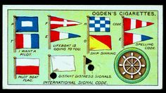Cigarette Card - Signal Flags | Flickr - Photo Sharing!