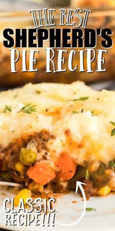 Beef Dishes, Food Dishes, Main Dishes, Easy Casserole Recipes, Casserole Dishes, Beef Potato Casserole, Best Shepherds Pie Recipe, Recipe For Shephards Pie, Shepherds Pie Recipe With Ground Beef