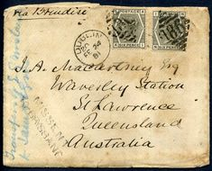 315692 - Lot 17 - Australia Covers - Postal History Covers - 1881 Dublin to St Lawrence Queensland Australia, Missent… / MAD on Collections - Browse and find over 10,000 categories of collectables from around the world - antiques, stamps, coins, memorabilia, art, bottles, jewellery, furniture, medals, toys and more at madoncollections.com. Free to view - Free to Register - Visit today. #Stamps #PostalHistory #MADonCollections #MADonC