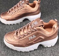 c5c407df1cbb NEW FILA Women s Disruptor Premium Athletic Lightweight Tennis Shoes Rose  Gold  fashion  clothing