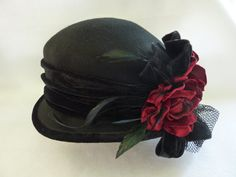womans cloche hat, vintage inspired