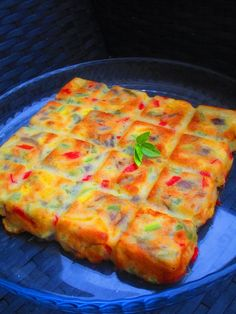 Gâteau de poivrons, parmesan et pignons de pin