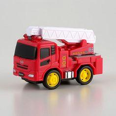 UD Trucks Merchandise Quon Pull Back Fire Engine Truck Car Tomica Choro Q New #UDTrucks