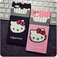 New iPhone 6 case cover Hello Kitty cigarette TPU phone 5 Popular