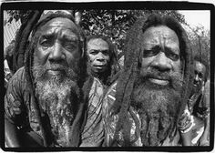The Nyabinghi serve as wise elders to the Rastafarian community. Photo by Lloyd Wolf. Rastafarian Culture, Rasta Man, Jah Rastafari, Beard Styles For Men, Black History Facts, Beard Gang, We Are The World, Pictures Of People, Many Faces