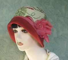 Shabby Chic Vintage Inspired Summer Cloche Hat