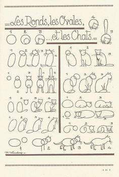 How to draw a cat - french art tutorial