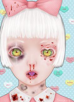 saccstry - Posts tagged my art Creepy Drawings, Creepy Art, Weird Art, Illustrations, Illustration Art, Arte Lowbrow, Pastel Goth Art, Alien Art, Sad Art