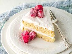 Paleo, sugar free Classic Vanilla Coconut Flour Cake