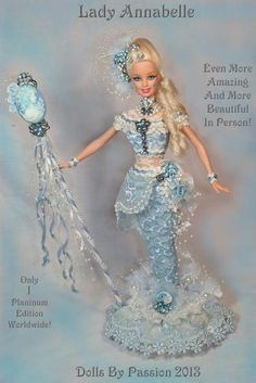 Barbie Mermaid Victorian Cameo Collector Doll Altered OOAK Custom Fairy Passion | eBay