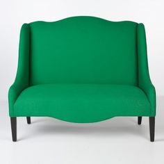 Green linen loveseat