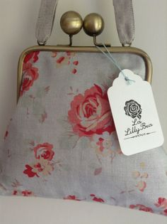 Beautiful linen from peony and sage made into beautiful bag by La Lilly Bea Boutique.