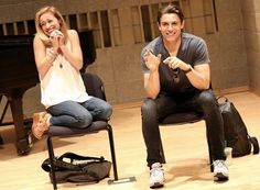 Derek Klena and Christy Altomare. Christy oh my goodness. I love her personality so much. She's so fun and unafraid to be that way! Anastasia Broadway, Anastasia Musical, Princess Anastasia, Theatre Nerds, Music Theater, Broadway Theatre, Christy Altomare, Journey To The Past, Anastasia Romanov