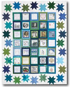Make memories last a lifetime with this Anniversary Memories quilt by Jean Nolte from Love of Quilting July/August 2013. This quilt pairs photos and greetings printed on fabric with star blocks. Fat quarter friendly!