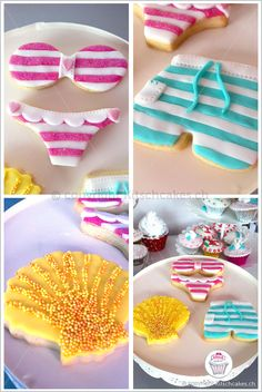 Summer Beach Party Food - Beach Inspired Cookies - Swimsuit Cookies
