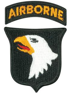 101ST AIRBORNE DIVISION CLOTH PATCH WITH VIETNAM TAB 101