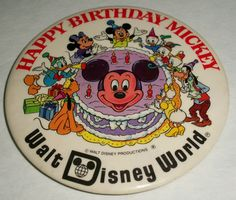 Vintage 1978 Happy Birthday Mickey Walt by DebscountryVintage, $6.00