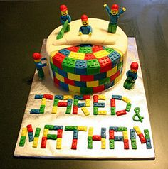 covered lego cake