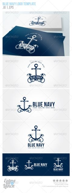 Blue Navy Sailing and Navy  - Logo Design Template Vector #logotype Download it here: http://graphicriver.net/item/blue-navy-sailing-and-navy-logo-template/5700039?s_rank=262?ref=nexion