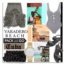 """Varadero Beach, Cuba..."" by nfabjoy ❤ liked on Polyvore featuring MSGM, Skagen, Mara Hoffman, Packandgo and cuba"
