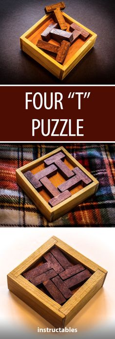 Four T Puzzle #woodworking #toy #puzzle