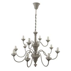Provincial Grey 12 Light Pendant – Allissias Attic & Vintage French Style
