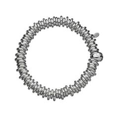 This Sterling Silver bracelet is a tactile and fun alternative to the charm bracelet with an expandable circumference Available in small 150mm medium