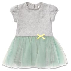 MARIE-CHANTAL greying Cinderella dress with turquoise tutu skirt for babies from www.kidsandcouture.com - I'm thrilled