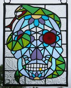 munazuberi.co.uk - stained glass - Mexican Candy Skull stained glass ...