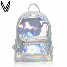 Sale Price $10.73, Buy VEEVANV Newest 2017 Summer Silver Hologram Laser Backpack Girl School Shoulder Bags For Teenage Girls Mochilas Feminina Gifts