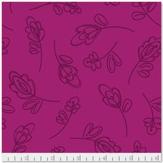 SALE Daisy Janie New Leaf Raspberry Floret by SewingStraightLines