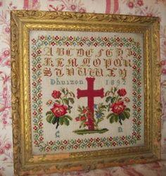 Quelques petits abécédaires anciens - Le blog de tissus-anciens