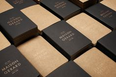Good design makes me happy: Project Love: Maison Gerard Print Collateral