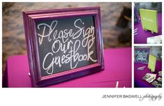 Custom antiques chalkboard frames for signage!