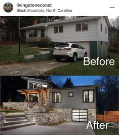 Our Suburban Fixer Upper brimming with rustic curb appeal and shabby chic charm,… Home Exterior Makeover, Exterior Remodel, Home Renovation, Home Remodeling, Reforma Exterior, Before After Home, House Makeovers, Room Makeovers, Style At Home