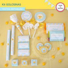 Mi primera comunión varones: kit etiquetas de golosinas - Todo Bonito
