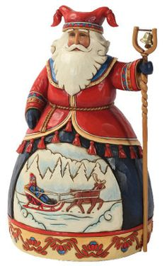 Jim Shore Heartwood Creek Lapland Santa Claus Sleigh Scene Christmas Figurine | eBay
