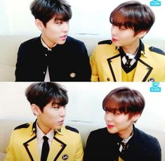 Wanna-One - Woojin x Jihoon - pink sausages! Cry A River, Nothing Without You, You Are My Life, Dance With You, Kim Jaehwan, Ha Sungwoon, Produce 101, 3 In One, First Dance