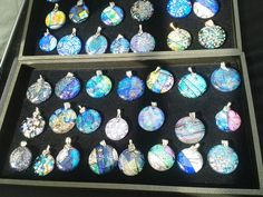 Glass pendants...beautiful.  From Frankfort Fall Festival. By Earth, Wind and Fired, Ltd: www.earthwindandfiredltd.com